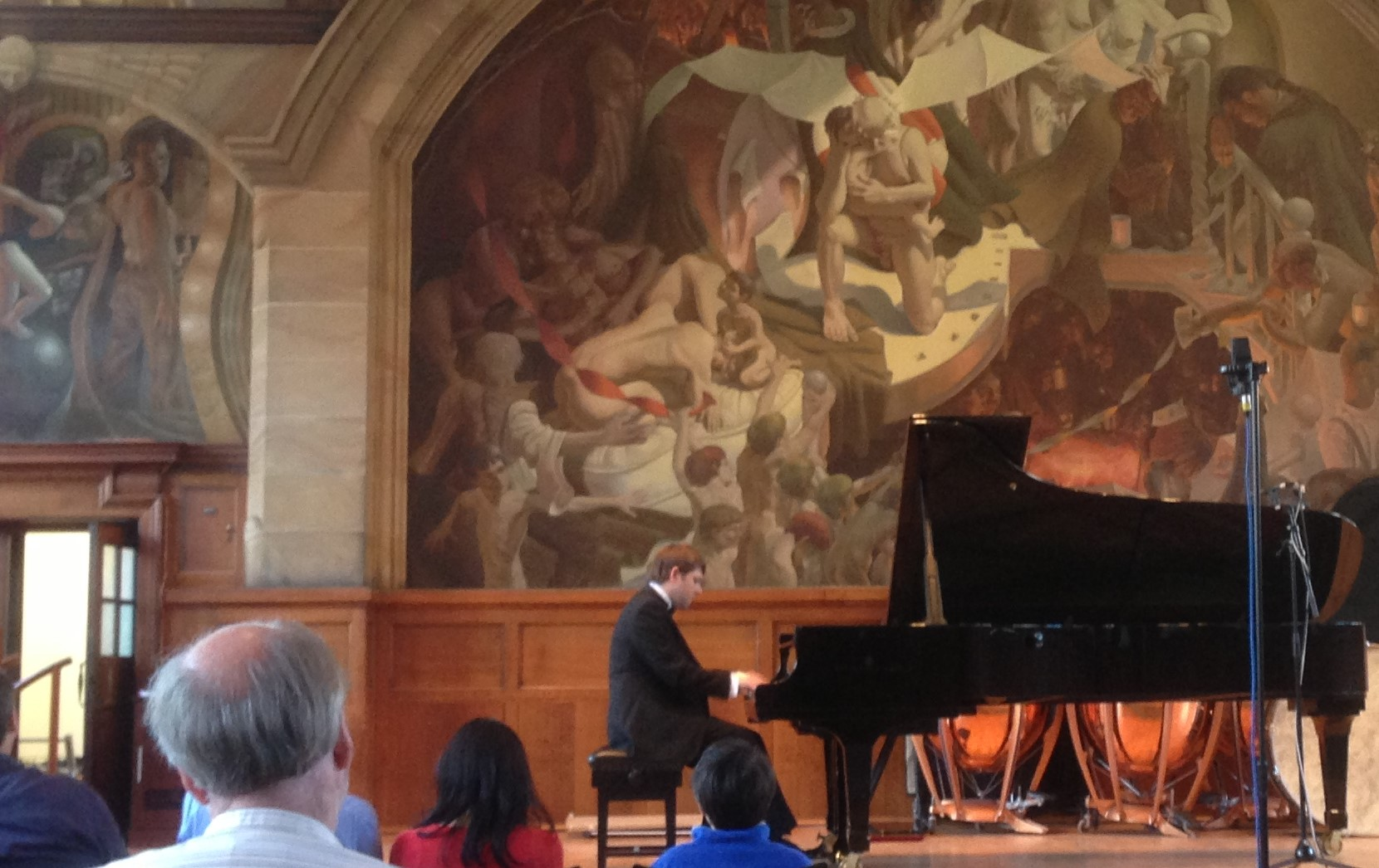 Maciej's inaugural recital  in the Powis Hall, 5th August 2013